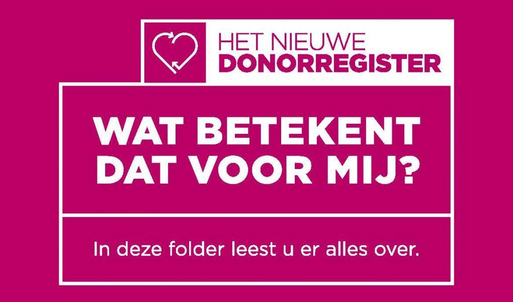 Registraties stimuleren in het Donorregister