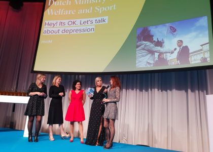 European Excellence award depressiecampagne Hey